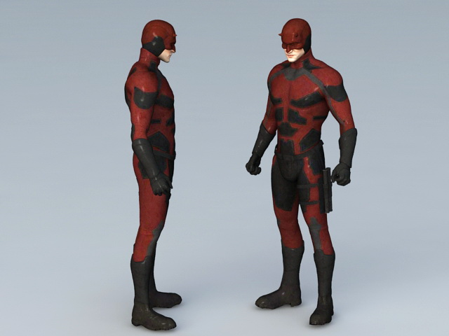 Daredevil Marvel Comics 3d Model 3ds Max Files Free