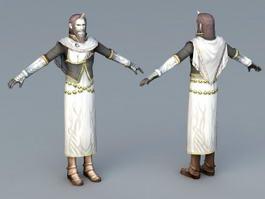 Medieval Merchant 3d model