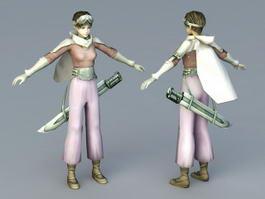 Teen Warrior Girl 3d model