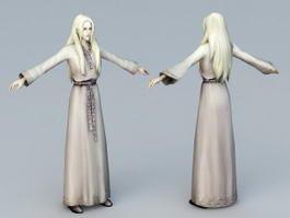 Medieval Lady 3d model
