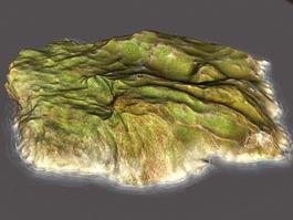 Barren Island 3d model