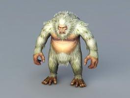 Gorilla Abominable Snowman 3d model