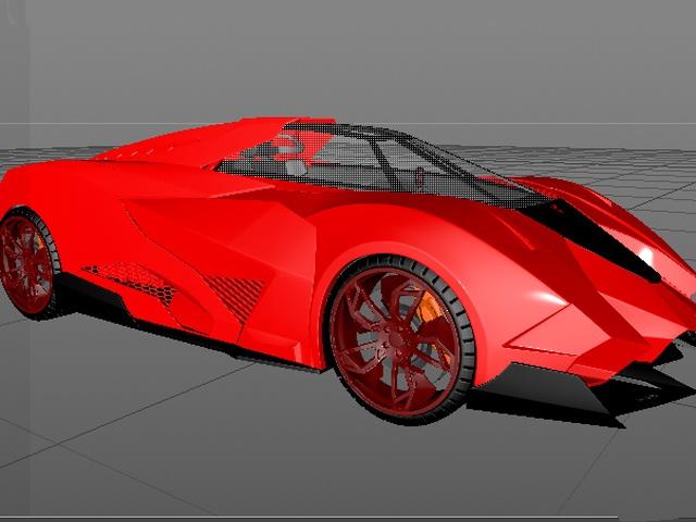 Lamborghini Egoista 3d model