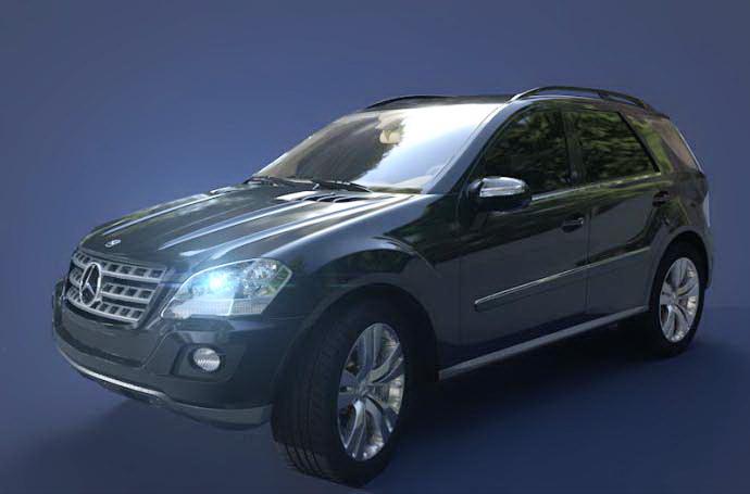 Mercedes ML500 3d model