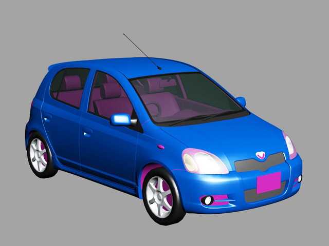 1999 Toyota Yaris 3d model