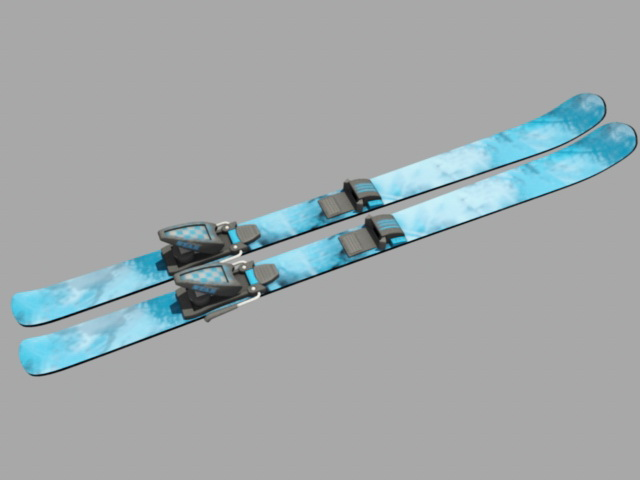 Skiing equipment 3d model