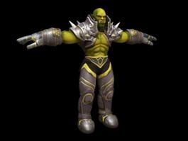 Half-Orc Male Warrior 3d model