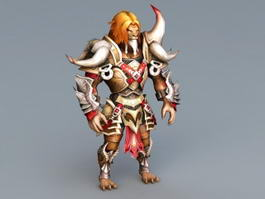 Werelion Lion Warrior Rig 3d model