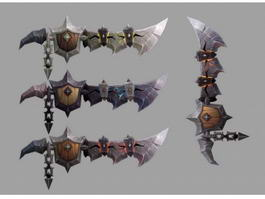 Deathwing Raid Swords 3d model