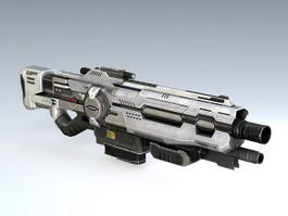 Sci Fi Assault Rifle 3d model