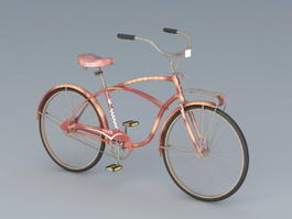 Old Bike Vintage Bicycle 3d model