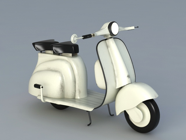 Motor scooter 3d model 3ds max files free download modeling.
