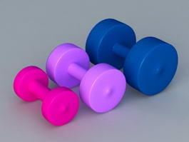 Colorful Weights 3d model
