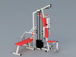 Commercial Multi Gym Equipment 3d model