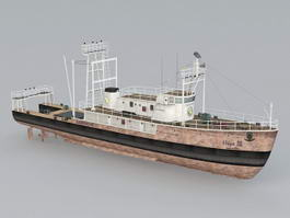 Commercial Fishing Ship 3d model