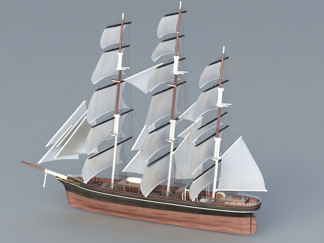 Historical Sailing Ship 3d model