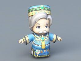 Anime Old King 3d model