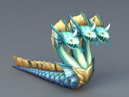 Three-Headed Serpent 3d model