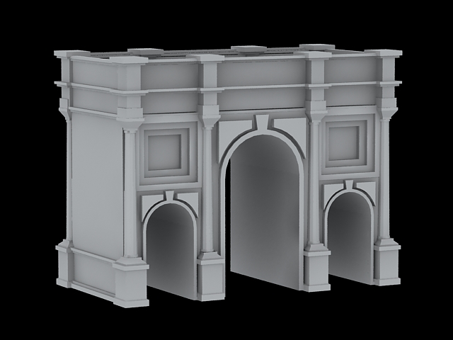 Marble Arch London 3d model 3ds Max files free download