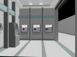 Self Service Banking 3d model