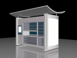 Outdoor Kiosk 3d model