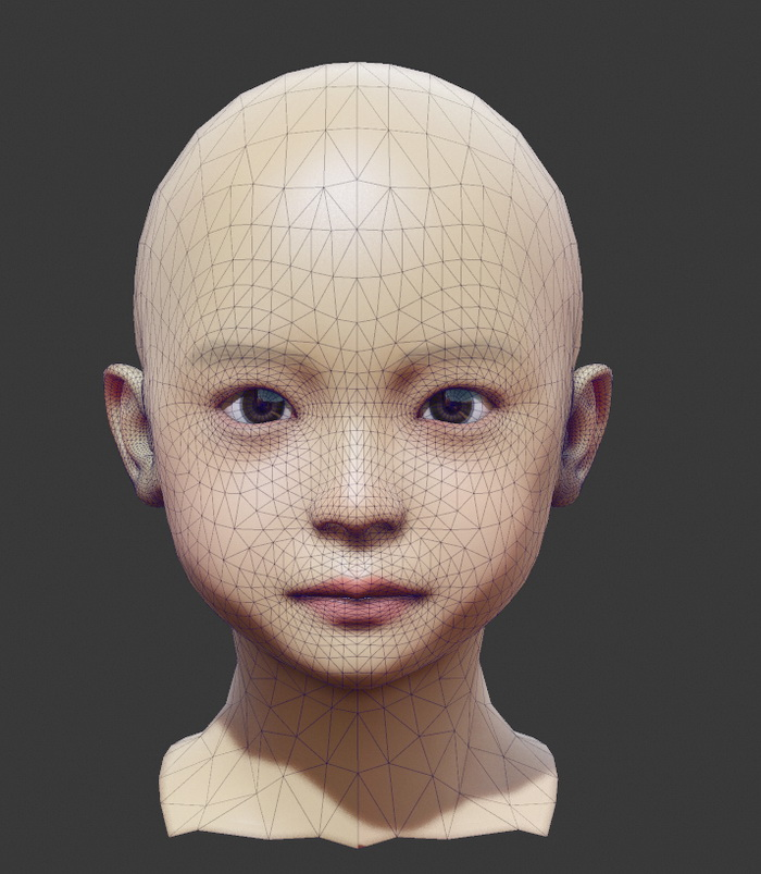 Child Head 3d Model Object Files Free Download Modeling