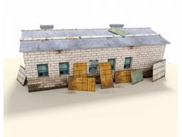 Old Workshop Building 3d model
