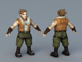 Anime Male Mercenary 3d model