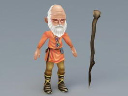 Old Grandfather 3d model