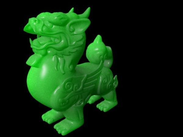 Jade Qilin Carving 3d model
