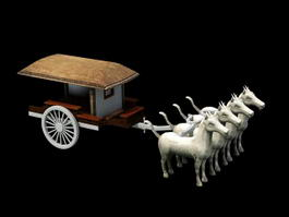 Terracotta Chariot 3d preview