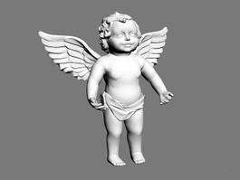 Small Angel Statue 3d model