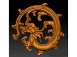 Dragon Sculpture 3d model