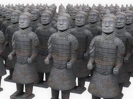 Qin Terracotta Army Soldiers 3d model