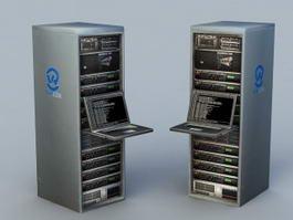 Data Center Server 3d model