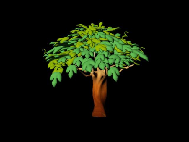 Cartoon Tree 3d Model Maya Files Free Download Modeling