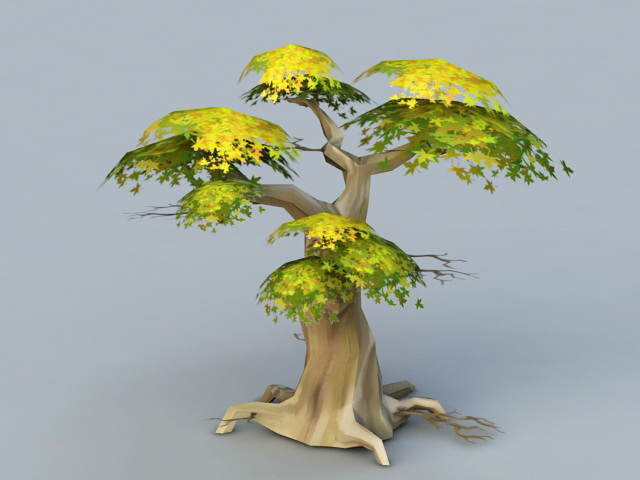Anime Tree 3d Model 3d Studio 3ds Max Files Free Download