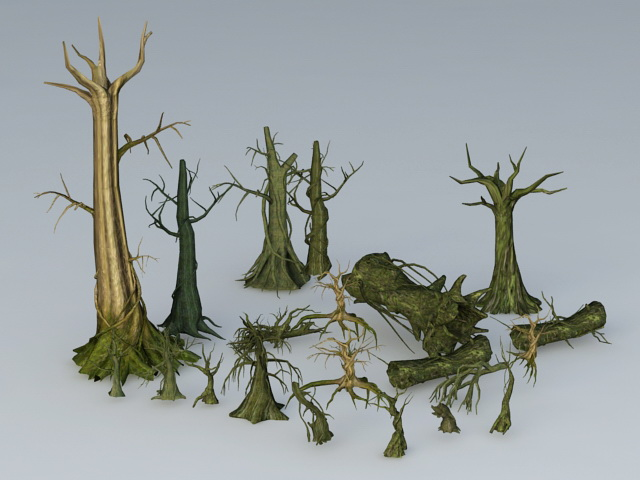 Old Dead Trees 3d Model 3ds Max Files Free Download