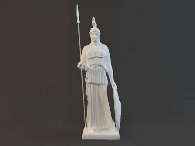 Athena Greek Goddess 3d model