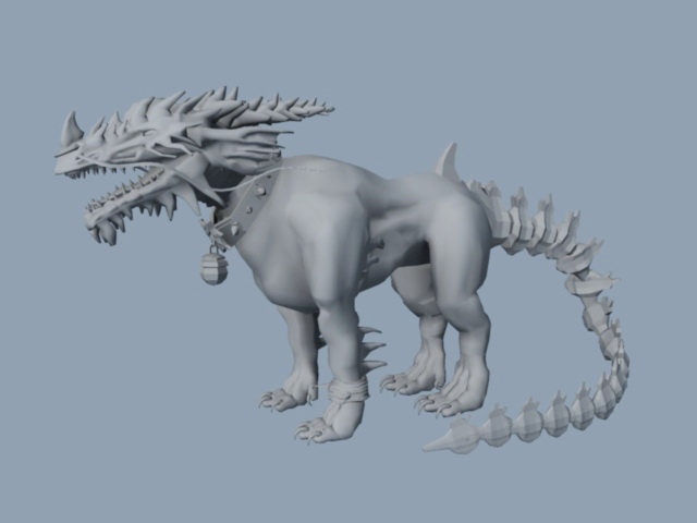 Alien Beast Concept Art 3d model
