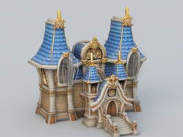 Medieval Manor House Cartoon 3d model