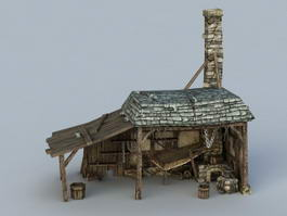 Medieval Blacksmith Building 3d model
