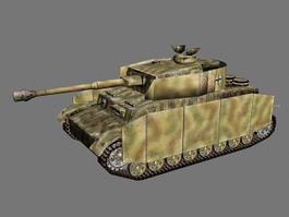 Panzer IV Ausf.H 3d model