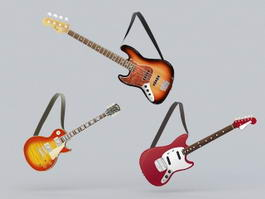 Guitar Collection 3d model