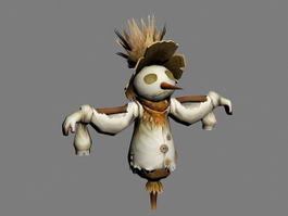 Cute Scarecrow 3d model