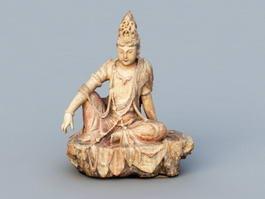 Ancient Indian Buddha 3d model