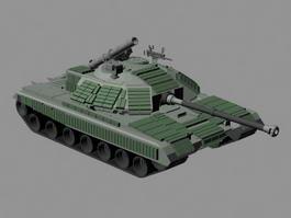Sci Fi Tank 3d model