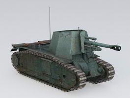 105 leFH18B2 Self Propelled Gun 3d model