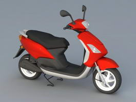 Electric Moped Scooter 3d model