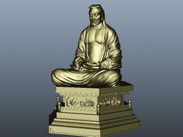 Bodhidharma Statue 3d model
